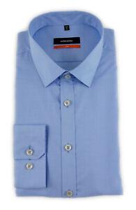 Seidensticker Herren Langarm Business Hemd SLIM Kent blau 676180.12