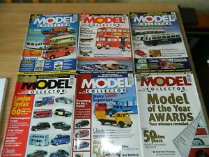 6x Model Collector Magazine issues Jan-Jun 2002 Routemaster Dinky Toyfair models