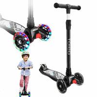Kinderscooter Kinderroller Dreirad Roller Scooter Lenker LED Blinken Verstellbar