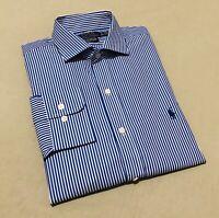 Ralph Lauren Men's Slim Fit Formal Shirt 100% Cotton Stretch Easy Care Shirt