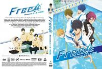 ANIME DVD ENGLISH DUBBED Free!Iwatobi Swim Club Season 1-3(1-37End+OVA)FREE SHIP
