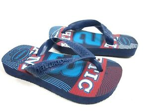 HAVAIANAS TODDLER ATHLETIC FLIP FLOPS NAVY/BLUE TODDLER US 8 Brazil Size 23-24