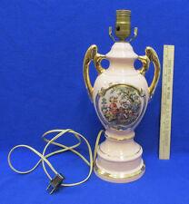 Vintage Lamp Victorian Image Ceramic Porcelain French Art Nouveau Loving Couple