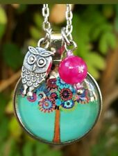OWL NECKLACE TREE of LIFE JEWELRY BIRTHDAY GIFT for FRIEND MOM TEACHER SISTER