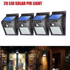 4 Pack Solar LED Lights Solar Sensor Motion Light 20 LED Outdoor Lamp Waterproof