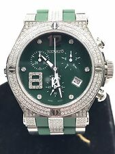 Renato  Stainless S.Wild Beast ETAG15211 Chronograph 3.00ctw Diamond Pave Green