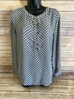 English Laundry Long Sleeve Shirt Size Large Womens Gray Blouse Top Casual L/S