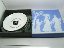WEDGWOOD BONE CHINA PEUGEOT LADIES GOLF UNION PIN TRAY DISH COASTER BOX
