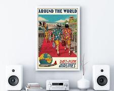 Daft Punk Around The World Retro Music Poster Framed Wall Art