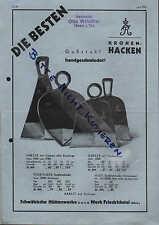 FRIEDRICHSTAL, Werbung um 1930, Schwäbische Hüttenwerke GmbH Gußstahl-Kronen-Hac
