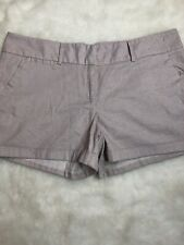 Maurices Womens Pink Herringbone Cuffed Belted Shorts Smart Plus NWT  Size 22