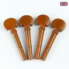Boxwood Violin Peg Set - Baroque Model with matched collar