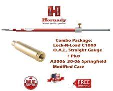 Hornady Lock-N-Load STRAIGHT OAL Gauge C1000 + 30-06 30/06 Modified Case A3006