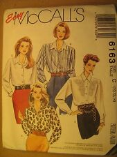 UNCUT Sewing Pattern 1992 McCALL'S Size C 10,12,14 BLOUSE 6163 [Z180]