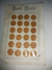 Vintage French Buttons Taupe Colour 17mm