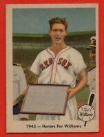 1959 Fleer #21 Ted Williams VG-VGEX HOF Boston Red Sox FREE SHIPPING