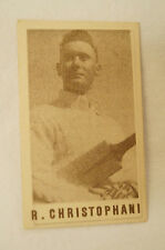 1940's Vintage G.J.Coles Cricket Card - R. Christophani - N.S.W.