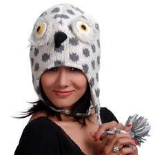 SPOTTED HAWK ANIMAL HAT ADULT Bird Lined Knit Ski Cap Animal Wool Snowboard Warm