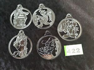 5 Disney characters Tree Decoration Acrylic Perspex Baubles Micky Friends gift