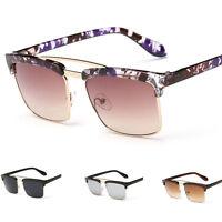 Retro Unisex Aviator Mirrored Lens Sunglasses Eyewear Eye Glasses UV400