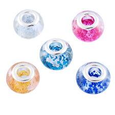 20 Mixte Perle Lampwork verre pr Bracelet charm 10x14mm