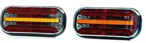 LED Rückleuchten mit Dynamischer Blinker 6 Funktionen L+R 12/24V Wohnwagen LKW