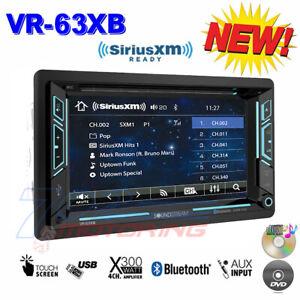 "SOUNDSTREAM DOUBLE DIN VR-63XB DVD/CD/MP3 PLAYER 6.2"" LCD BLUETOOTH USB SIRIUSXM"