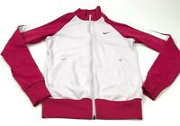 VINTAGE Nike Jacket Women's Size Small S Pink White Full Zip Track Coat Adult