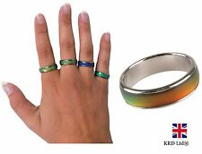 Genuine Tobar MOOD RING Colour Changing Emotion Rings Party Favors Party Gift UK