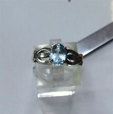Topaz Solitaire Not Enhanced Sterling Silver Fine Rings