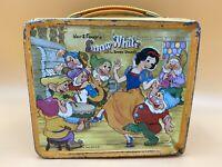 Vintage Snow White Seven Dwarfs Metal Lunchbox Aladdin Ind. 1970s - No Thermos