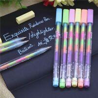 - und schreibwaren highlighter bild - graffiti glitzer - boxen 6 farben tinte