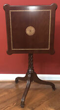 Vintage Bombay Company Tilt-Top Wood Occasional Table~Marquetry EXCELLENT!