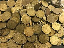 NAZI GERMANY 10 REICHSPFENNIG BRONZE COINS SWASTIKA RPFG REICH PFENNIG WWII WW2
