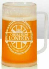 Cheers from London Beer Mug Tankard Frosty Pint Souvenir Glass 400ml Gift Pub
