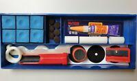 Billard Zubehör Klebeleder Kreide Klemme Tool Queue Set Reparaturset 23-tlg. Box