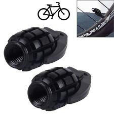 4 Stück schwarze Granate Handgranate Ventilkappen für Autos PKW LKW Motorrad NEU