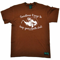 Sometimes It Pays To Keep Your Mouth Mens T-SHIRT fishing funny birthday gift