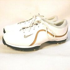 Nike Womens Power Channel Tac Traction Control White Leather Golf Shoe Size 9
