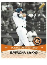 2018 BOWLING GREEN HOT RODS 8 x 10 flip card BRENDAN MCKAY