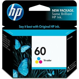NEW HP CC643WN #60 Color Ink Cartridge Genuine NEW exp 4/2021