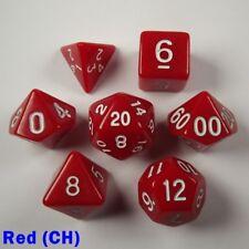 Opaco Poly 7 Dados Rpg Conjunto Rojo (ch) audaz fácil leer Pathfinder 5e Dungeon Dragon