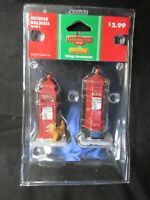 Set of 2 LEMAX VICTORIAN ROYAL RED MAILBOXES with Cat, 2011, #14362 - In Package