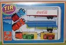 Joy Toy No 215 TIR 3 Trucks + 2 cars (Made in Greece) NEW!