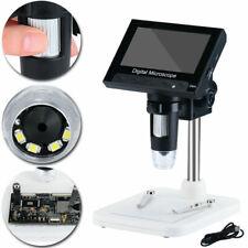 "1000X 4.3"" LCD Screen Digital Electronic Microscope Magnifier Camera 8 LED 2020"