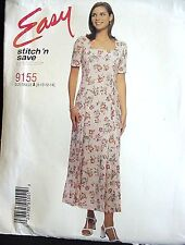 McCall's Pattern 9155, Misses' Semi-Fitted Dress, Sizes 8,10,12,14 Copyright '98