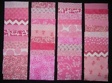 "40 pink 4"" x 4"" fabric squares 2 prints from 20 different fabric quilt blocks"
