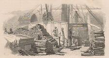 C1245 Russia - Bateau à vapeur sur le Volga - Xilografia - 1867 old engraving