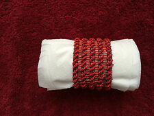 """1 3/4"""" WIDE Blood red STRETCH BAND BUGLE BEADS BRACELET"""
