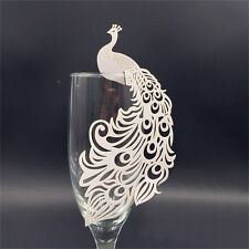 50pc Laser Cut Name Place Cards For Wedding Party Table Wine Glass Decor te